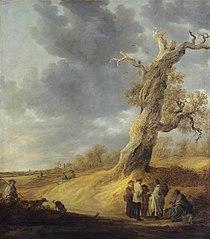 Landscape with Half-leaved Weathered Oak