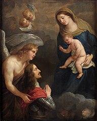 Erzherzog Leopold Wilhelm im Gebet vor der Madonna