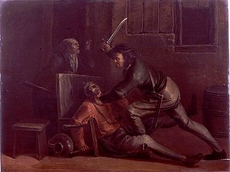 Jan van de Venne - A fight in an inn