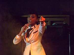 Singer Janelle Monáe performing in Atlanta, Ge...