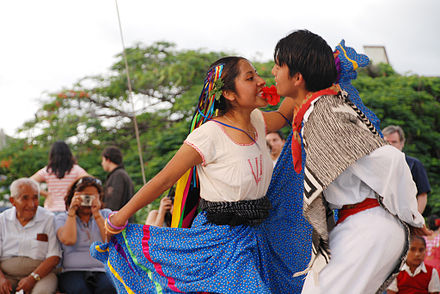 Two young people dancing a jarabe Jarabe Mixteco.jpg
