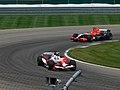 Jarno Trulli and Christijan Albers 2006 Indianapolis.jpg