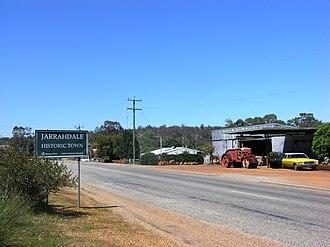 Jarrahdale, Western Australia - Entering Jarrahdale from Perth