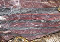 Jaspilite (Soudan Iron-Formation, Neoarchean, ~2.69 Ga; Soudan Mine, Soudan, Minnesota, USA) 2 (19031273655).jpg