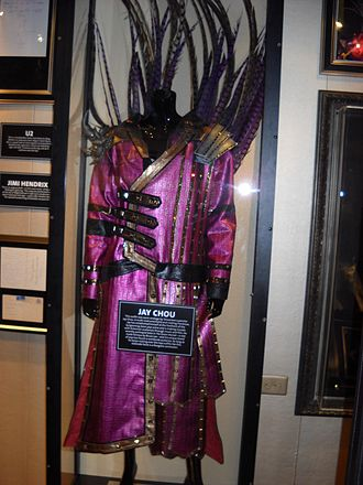 Jay Chou - Chou's 2007 tour outfit exhibited at the Hard Rock Cafe 40th anniversary tour in Seattle, 2011