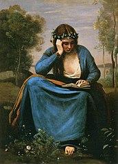 Liseuse couronnée de fleurs, ou La Muse de Virgile