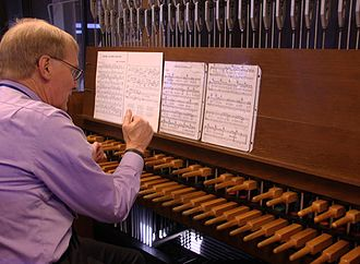 Campanology - Carillonneur in action