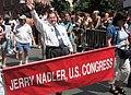 Jerrold Nadler marches in New York City's gay pride parade.jpg