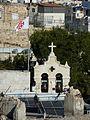 Jerusalem Church of Bethphage bells and flag.jpg