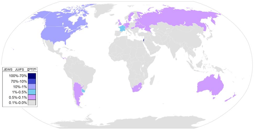 Jewish distrib country