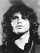 A promotional photograph of The Doors frontman Jim Morrison, taken circa 1969