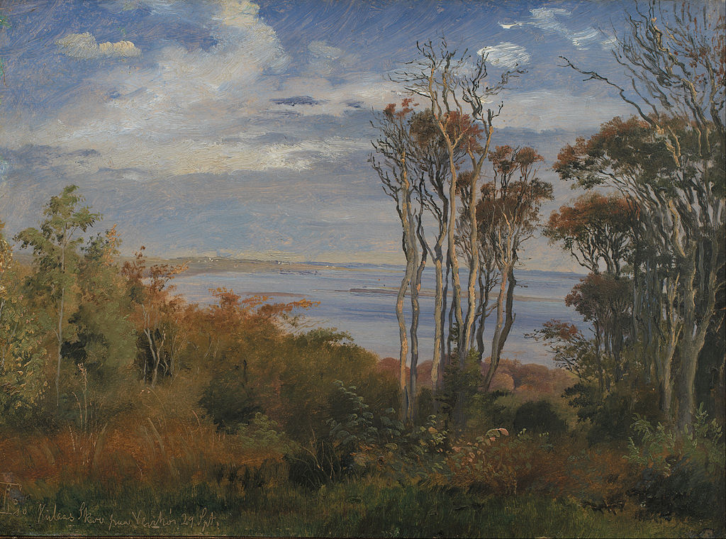 """Kolås Wood, Vejrhøj"" par Johan Lundbye (1846) au SKM de Copenhague."