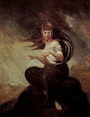 Crazy Kate, illustration for Cowper's The Task by Henry Fuseli (1806-1807).