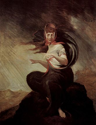 William Cowper - Crazy Kate, illustration for Cowper's The Task by Henry Fuseli (1806–1807).