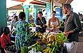 John, Caroline, Sam and Felicity at the Port Vila market, Vanuatu, 1 June 2006 (157837220).jpg