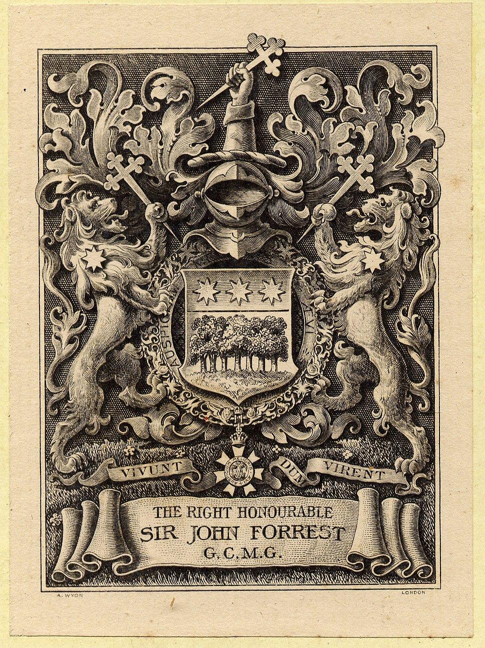 John Forrest bookplate