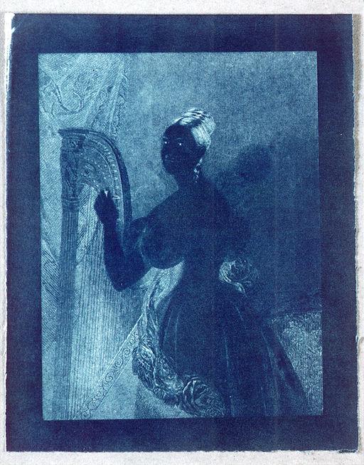 John Frederick William Herschel - Lady with a harp 1842