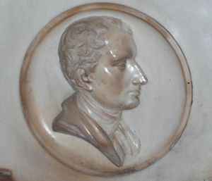 Thomas James (bishop) - Bas-relief of John Thomas James in Christ Church Cathedral, Oxford