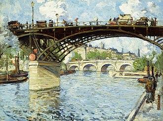 Jonas Lie (painter) - Image: Jonas Lie View of the Seine (1909)