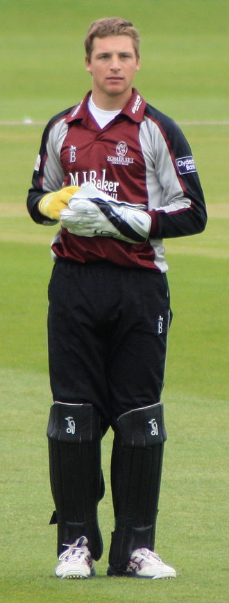 Jos Buttler - Buttler keeping wicket for Somerset in the ECB 40