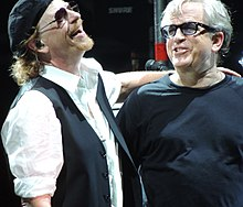Steve Porcaro (right) at Toto's 35th Anniversary Tour in Örebro, Sweden, July 3, 2013
