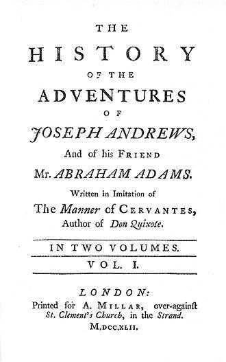 Joseph Andrews - Image: Josephandrewsfirsted ition