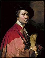 Sir Joshua Reynolds in a self-portrait