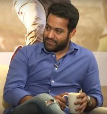 Jr. NTR at Interview for Aravinda Sametha.png
