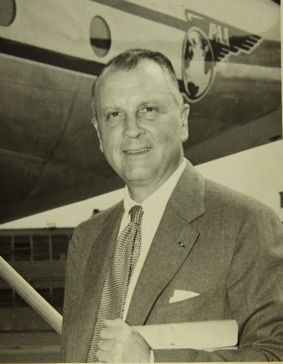 Juan Trippe with Stratocruiser