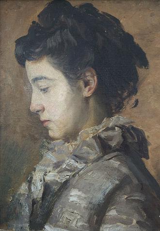 Eugène Burnand - Julia Burnand by Eugène Burnand OOC 1889