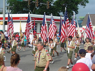 Scouting in Oklahoma - LibertyFest Parade