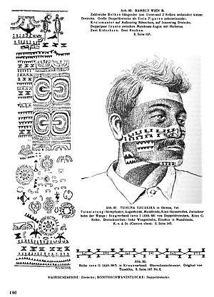 Karl von den Steinen - v.d.Steinen vol.1, tattoos on Marquesas.