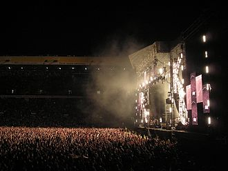 Kaiser Chiefs - The stage at Elland Road stadium on 24 May 2008.
