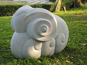 The sheep statue is one of the 12 Chinese Zodi...