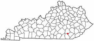 North Corbin, Kentucky - Image: KY Map doton North Corbin