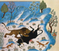 Kalila wa Dimna - The lion devoured the bull.png