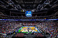 Kansas Jayhawks Open Practice at the 2016 March Madness Opening Rounds (25817826036).jpg