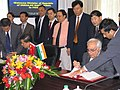 Kapil Sibal and his Chinese counterpart, Mr. Xu Guanhua signing an MoU on cooperation in the field of science and technology in Beijing on September 07, 2006.jpg