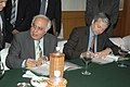 Kapil Sibal and the Dy. Prime Minister and Finance Minister of Belgium, Mr. Didier Reynders signing an MoU on Science & Technology Cooperation, in New Delhi on November 03, 2006.jpg