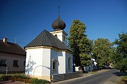 Kaple na návsi v Bílovicích, Bílovice-Lutotín, okres Prostějov.jpg