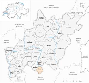 Cugy - Image: Karte Gemeinde Cugy 2013