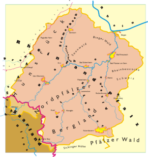 North Palatine Uplands mountains in Germany