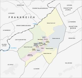 Quarters of La Chaux-de-Fonds