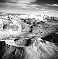 Katmai Glacier and Snowy Mountain, terminus of valley glacier in the background, Snowy Mountain in the foreground, August 26 (GLACIERS 7006).jpg