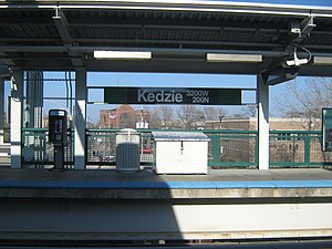Kedzie station (CTA Green Line) - Image: Kedzie Green Line