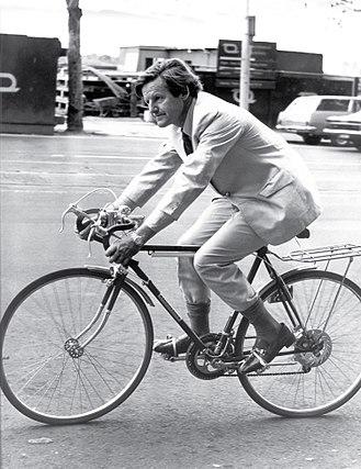 Keith Dunstan - Keith Dunstan on his bicycle in the 1970s