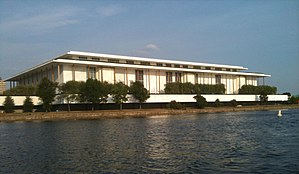 Kennedy Center seen from the Potomac River.