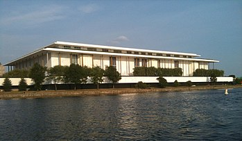English: Kennedy Center seen from the Potomac ...