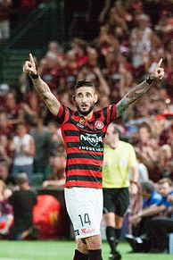 Kerem Bulut playing for the Western Sydney Wanderers in 2015