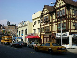 Kew Gardens, Queens - Homestead Gourmet Shop and other stores on Lefferts Boulevard